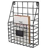 HQQ European Creative Metal Iron Rack de Revista | Estante de Pared como...