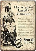 Spalding Top Flight Golf Clubs and Balls ティンサイン ポスター ン サイン プレート ブリキ看板 ホーム バーために