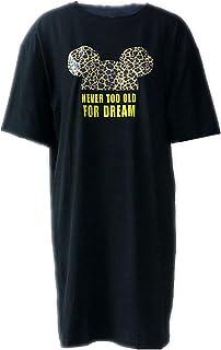 Vestido de Noche Mujer Tallas Grandes Lencería Manga Corta Negro Blanco Camisón Mini Loose Summer Sleepwear Pijama de Leopardo