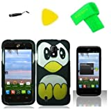 Penguin Phone Case Cover Cell Phone Accessory + Yellow Pry Tool + Stylus Pen + Screen Protector + EXTREME Band for ZTE Majesty Z796c / ZTE Source N9511