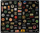 BASTION Morale Patches Panel, Hook & Loop Tactical Patch Panel (Large 30' x 36')   Thick Soft Loop Stick-on Panel, Ideal for Patches   Military Patches Collection Patch Display Board Organizer