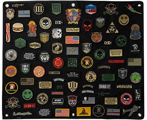 BASTION Morale Patches Panel, Hook & Loop Tactical Patch Panel (Large 30' x 36') | Thick Soft Loop Stick-on Panel, Ideal for Patches | Military Patches Collection Patch Display Board Organizer