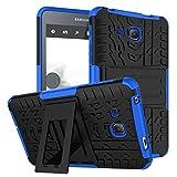 Samsung Galaxy Tab A6 7.0 2016 T280 T285 Case, BAUBEY Hybrid Rugged Armor Tough Shock Proof Hard Tire Tread Rubber Case Cover Stand for Samsung Galaxy Tab A6 7.0 SM-T280 SM-T285 (Blue)
