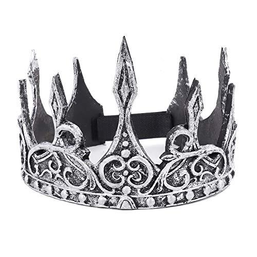 Ironhorse Krone, Retro, runder Kopfschmuck, Strass, schwarz, Königin, Hochzeit, Urlaub, Party