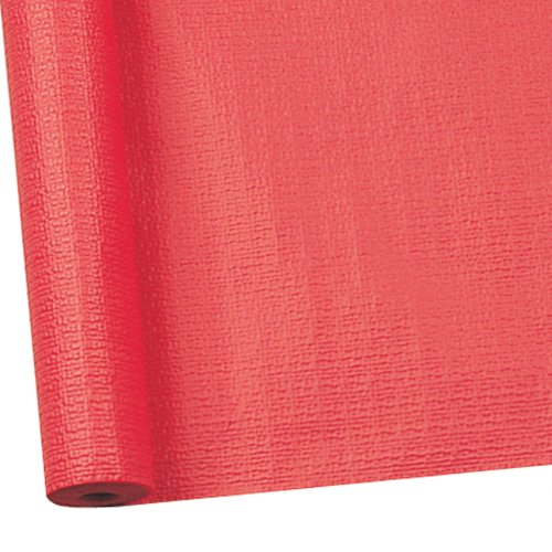 Susy Card 11094786 Tischtuchrolle, Papier, bedruckt, 1.18 x 7 m, geprägt rot
