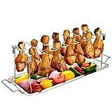g.a homefavor support de cuisson à ailettes et pattes de poulet en acier inoxydable avec égouttoir