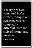 Alan Watts - Imán para nevera con cita de Alan Watts, negro