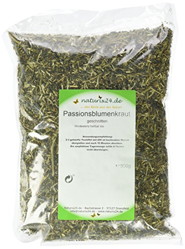 Naturix24 Passionsblumen Tee, Passionsblumenkraut geschnitten, 1er Pack (1 x 500 g)