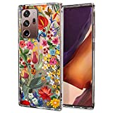 Case for Galaxy Note 20 Ultra,MOSNOVO Shockproof TPU Bumper Slim Clear Case with Cute Flower Design for Samsung Galaxy Note 20 Ultra 5G Phone Case Cover - Secret Garden