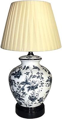 HSF Night Light Crafts Creativa Sveglia di Studio in Ceramica Lampada da Tavolo di personalità Regalo da Letto Dormitorio Lampada da Tavolo (Color : B)