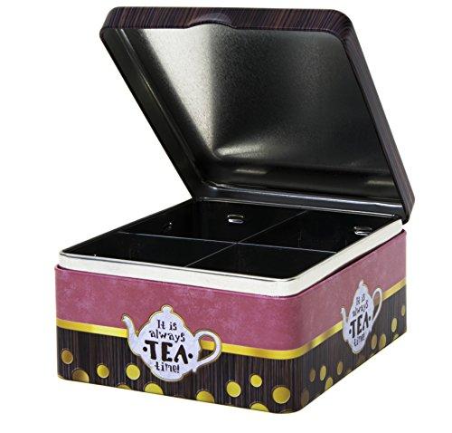 Caja de té – It Is Always Tea Time – Mezcla clásica estilo retro vintage...