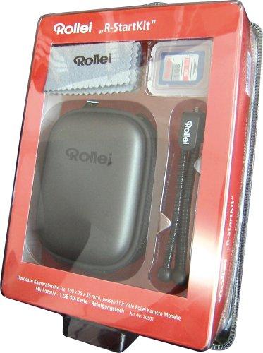 Rollei Starter Kit (Hardcase Tasche, 1 GB SD-Karte, Mini-Stativ, Rollei-Micro-Reinigungstuch) für Kompaktkameras