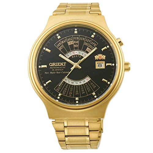 Orient Reloj Analógico para Hombre de Automático con Correa en Acero Inoxidable FEU00008BW