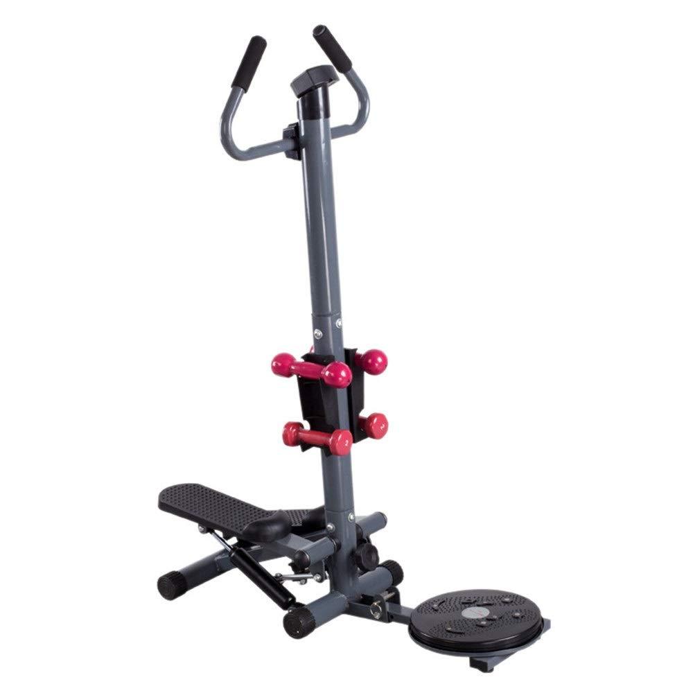 Lisansang Mini Stepper Ajustable Fitness Stepper Ejercicio Máquina Cardio Ejercicio Entrenador Twisted Disco con Asas Interior Fitness Escalera Stepper, Negro, 85x43x120cm: Amazon.es: Hogar