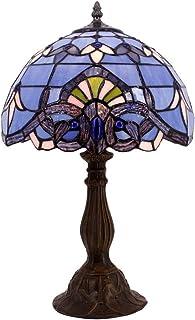 WYBFZTT-188 Lampe de Table en Verre teinté Veilleuse Pouces Bleu Abat for la Vie de Nuit Chambre