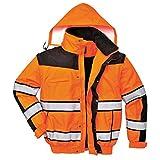 4in1 Warnschutzjacke Regenjacke Winterjacke Arbeitsjacke orange Gr. XXXL