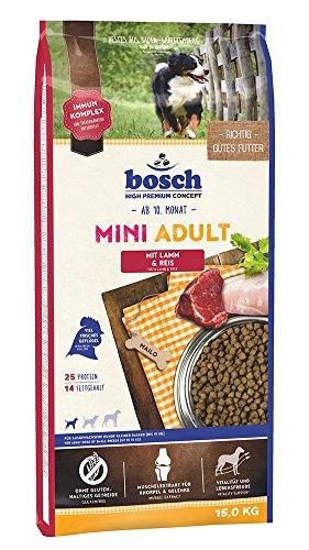 Bosch Dog Adult Mini Lamm & Reis 15 kg, 1er Pack (1 x 15 kg Packung) - Hundefutter