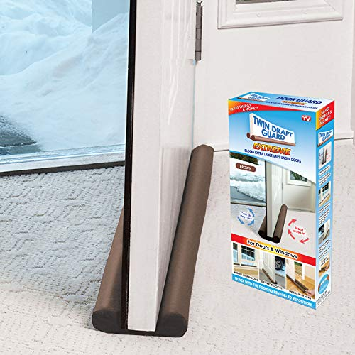 Twin Draft Guard 60220-DNA Extreme for Doors Brown PATENTED & TRADEMARKED, Single