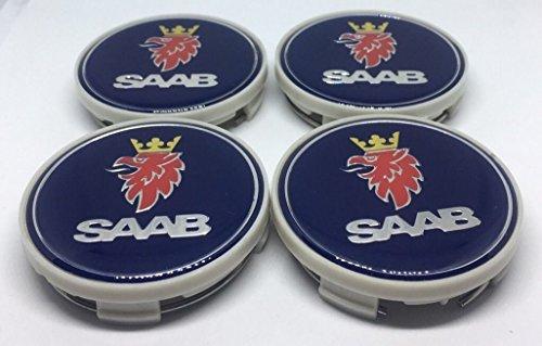 Juego de tapas de 4Saab Alloy–Rueda Hub Center Caps Saab 63mm