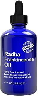 Radha Beauty Frankincense Essential Oil 4 oz - 100% Pure & Therapeutic Grade, Steam Distilled for Aromatherapy, Relaxatio...