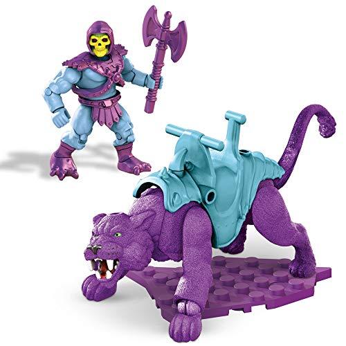 Mega Construx Másters del Universo Figuras articuladas de Skeletor y Panthor, bloques de construcción de juguete para niños (Mattel GVY17)
