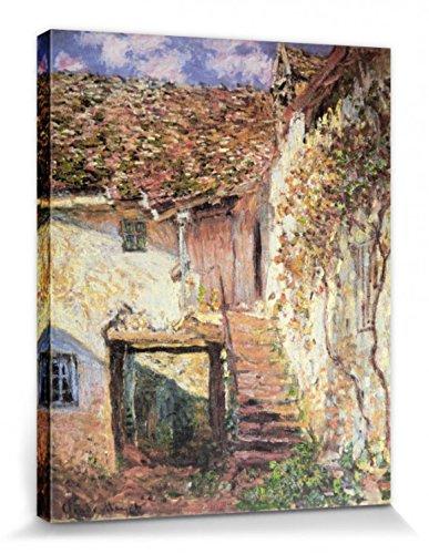 1art1 Claude Monet - Die Treppe, 1878 Bilder Leinwand-Bild Auf Keilrahmen | XXL-Wandbild Poster Kunstdruck Als Leinwandbild 50 x 40 cm