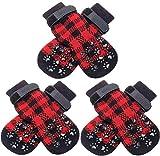 SCENEREAL Dog Socks Anti Slip with...