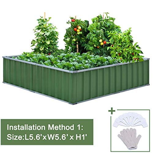 Extra-thick 2-Ply Reinforced Card Frame Raised Garden Bed Kingbird (Jade-Green)