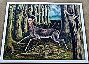 Frida Kahlo I Am A Poor Wounded Deer Poster 13x10 Offset Lithograph