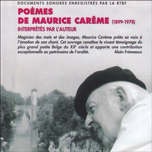 Poèmes de Maurice Carême (1899-1978). Interprétés par l'auteur cover art