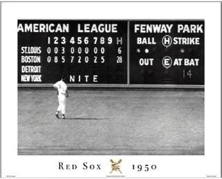Buyartforless Red Sox - Blow Out 16x20 Art Print Poster Green Monster Scoreboard Fenway Park