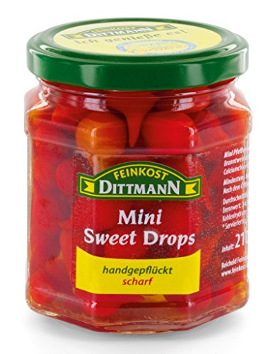 Feinkost Dittmann Sweety Drops rot 120g Glas