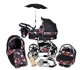 Twing - 3-in-1 Travel System con carrozzina, seggiolino auto, passeggino sportivo e accessori CON...