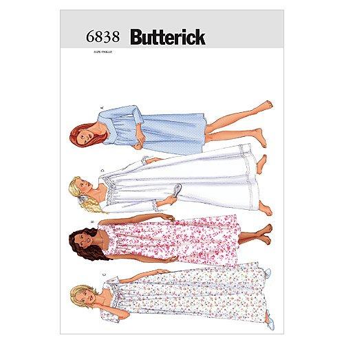 BUTTERICK PATTERNS B6838 Misses'/Misses' Petite Nightgown, Size LRG (L-XL)