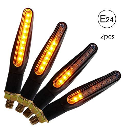 CCAUTOVIE LED Blinker Motorrad E Geprüft Universal LED Blinker Tagfahrlicht Motorrad Blinker Motorrad LED Lauflicht Bernstein E24, 2 Stück