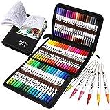 ZSCM Coloring Brush Pens Markers Set, 60 Colors...