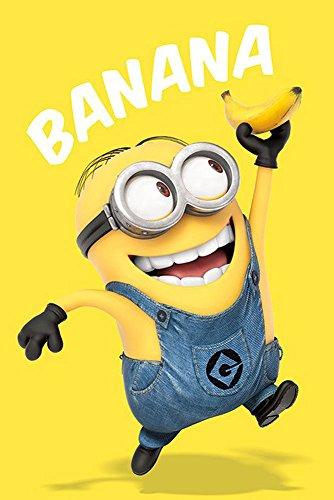 Despicable Me - Minions Banana - Ich einfach unverbesserlich Kinder Film Poster - Größe 61x91,5 cm