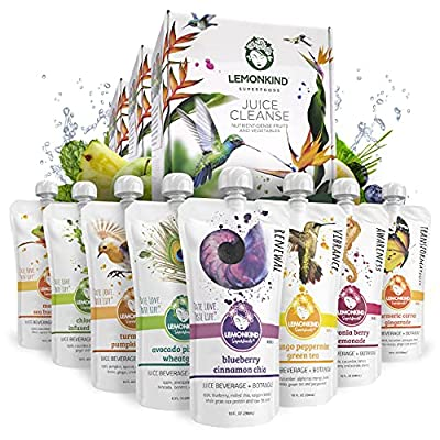 3 Day Original CORE DEEP Detox Juice Cleanse – Designed to Boost Metabolism, Jumpstart Weight Loss and Kick Bad Habits to The Curb – Plant-Based, Non-GMO & Gluten-Free Certified - 24 Juices from Lemonkind