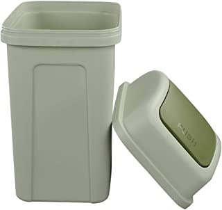 Nicesh 2.6 Gallon Trash Can with Swing Lid, 10 L Plastic Swing Top Trash Can (Green)