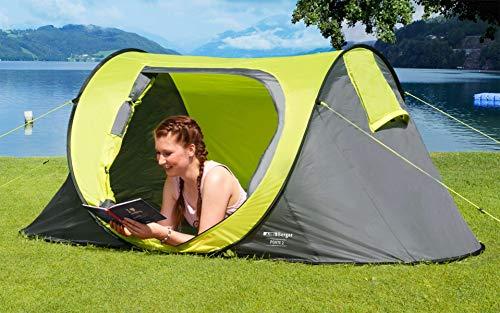 BERGER Wurfzelt Ponte 2 Automatikzelt Zelt Camping Trekking Zeltlager Fesitval Moskitogaze Zelten