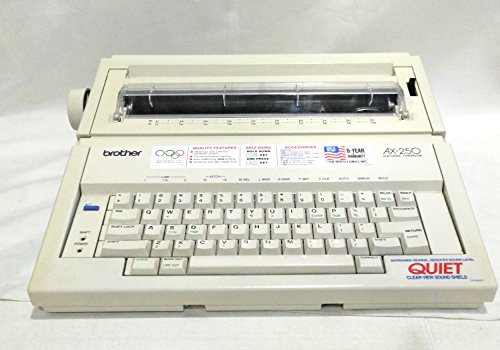#S6A Brother AX-250 Electric Typewriter W/Print Keyboard Cover & Power...
