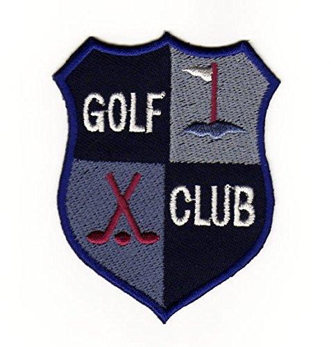 Parche plancha de planchar Iron on parches bordados adornos Golf Sport Club Raqueta Escudo: Amazon.es: Coche y moto