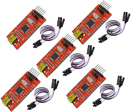 TECNOIOT 5pcs FT232BL USB to TTL FT232 5V 3.3V Download Cable to...