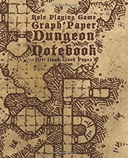 Role Playing Game Graph Paper Dungeon Notebook 200 Quad Lined Pages: A Handy Journal For Sketching & Exploring Dangerous L...