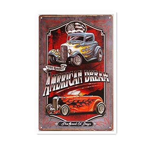 Ellis Legends Hot Rod Garage Rat Rod Gas Metal Znak Retro Cyna do sklepu Mężczyzna Jaskinia Bar Dekoracja domu Garaż
