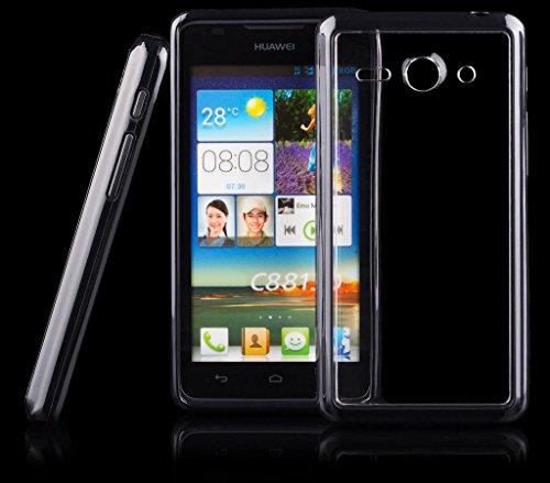 Huawei Ascend Y530   iCues parachoques de TPU con el claro de nuevo caso de Negro   Transparente lámina protectora caso de la piel Claro Claro gel de silicona transpare Funda Carcasa Bolsa Cov