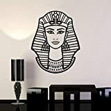 HGFDHG Calcomanía de Pared de Mujer egipcia Faraón Egipto Estilo temático Vinilo Ventana Pegatina Retro Dormitorio Hombre Cueva decoración del hogar Mural artístico