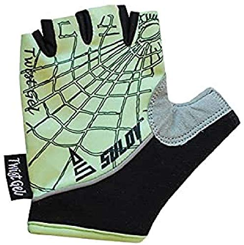 SULOV Kinder Twist Gel Fahrrad Handschuhe, Grün, L