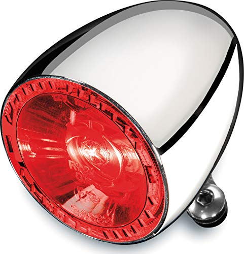 Pack of 1 Kuryakyn 2575 Motorcycle Lighting Accessory: Kellermann Atto RB Red Satin Black Rear LED Turn Signal//Blinker Light with Clear Lens