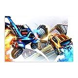 Rocket League Rennwagen-Poster, Leinwand, Poster,